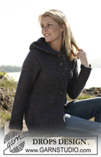 109-8 Hooded jacket pattern by DROPS design