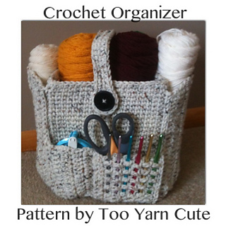 Free Crochet Patterns For Organizers : Ravelry: Crocheted Organizer Bag pattern by Too Yarn Cute