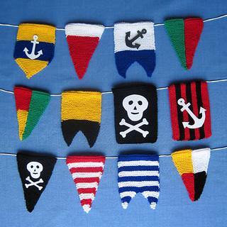 Knitting Pattern For Toy Boat : Ravelry: Pirate Pennant Bunting Flags pattern by Elizabeth Phillips