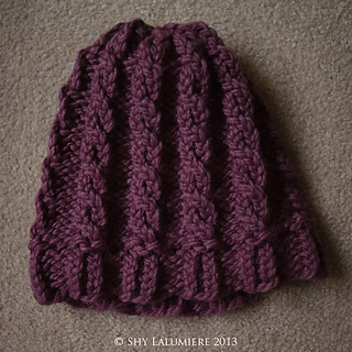 Ravelry: Loom Knit Cable Hat and Wristers (Hat) pattern by Lion Brand Yarn