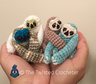 Amigurumi Eyes Australia : Ravelry: Amigurumi Baby Sloth pattern by The Twisted Crocheter