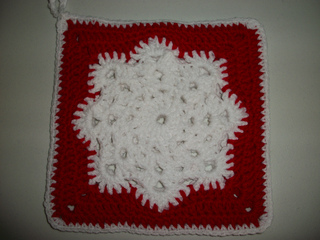 Free Crochet Snowflake Potholder Pattern : Ravelry: Lindas Snowflake Potholder pattern by Linda Bohrn