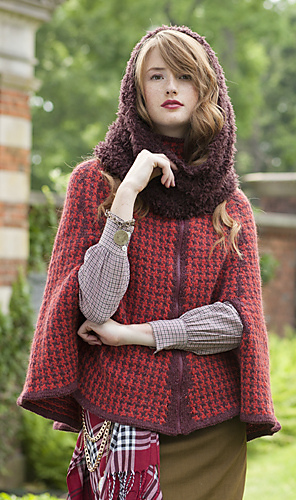 Vogue Knitting Cape Pattern : Ravelry: #04 Houndstooth Cape pattern by Inge Spungen