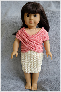 Ravelry American Girl Crossover Top And Skirt Pattern By