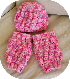 Ravelry: Knitting Baby Set Pattern, hat and leg warmers - Knitting tutorial P...