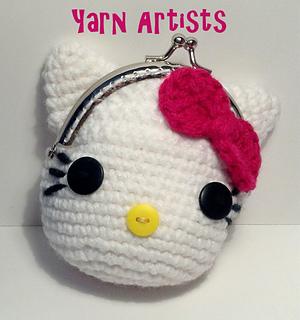 Free Crochet Patterns Hello Kitty Purse : Ravelry: Little Kitty (Hello Kitty Inspired) Coin Purse ...