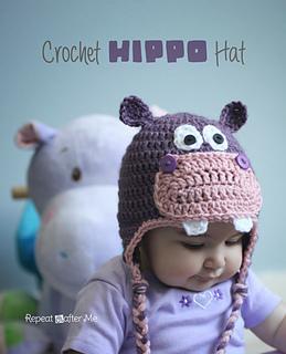 Ravelry Crochet Hippo Hat Pattern By Sarah Zimmerman
