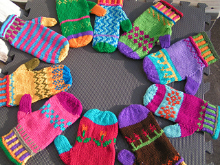 Knitting Pattern For Warm Mittens : Ravelry: Color Me Warm Mittens pattern by Colleen Brooks