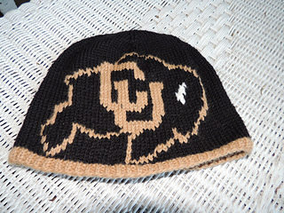 c5de2fa093d Ravelry  University of Colorado Beanie Kit pattern by Melanie Cross