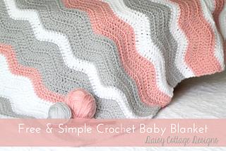 Ravelry Pretty Ripple Baby Blanket Pattern By Lauren Brown