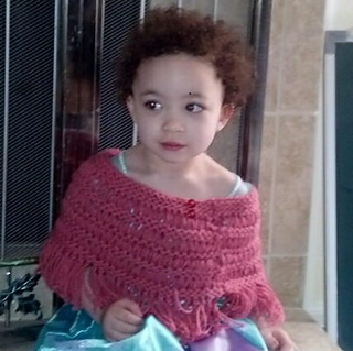 Sass in a Flash Toddler Poncho pattern by Noelle Gilmer