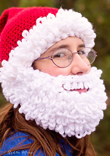 225ea5836 Ravelry: Bearded Santa Hat pattern by Ashlee Prisbrey