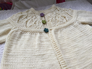 accf9e27f Ravelry  Cornflower Lace Yoke Cardigan pattern by Rita Taylor