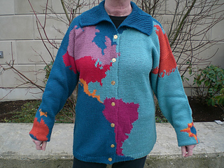 World Map Sweater.Ravelry 24 29 Map Of The World Sweater Pattern By Kay Niederlitz
