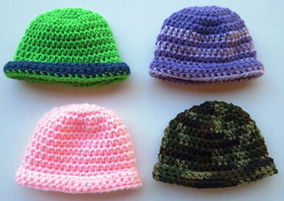 48741a2aba2 Ravelry  Rolled Brim Baby Hat pattern by Cindy RecycleCindy