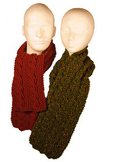 Ravelry Easy Reversible Cable Scarves Pattern By Diana Jordan