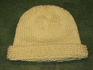 54b10a3beedc34 Ravelry: Basic Newborn Baby Hat with Garter Stitch Edge pattern by Jennifer  Jackson