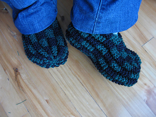1561e28664b1 Ravelry  Checkerboard Slippers pattern by Phentex