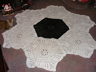 Ravelry: Shells and Loops Large Hexagon Shaped 6-Sided Motif