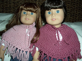 Ravelry: Easy Poncho for the American Girl Doll pattern by