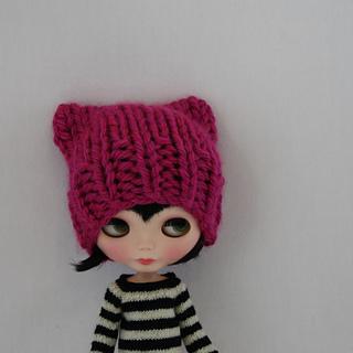1a2031805b6 Ravelry  Pussy Hat for Blythe pattern by Anne Heidemann