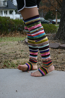 e299235bd7f Ravelry  Thigh High Footless Socks pattern by Lion Brand Yarn