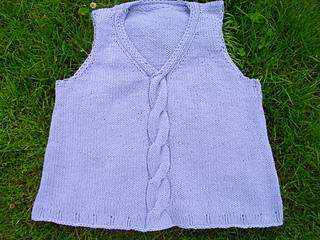 6cf2e5aa444c1b Ravelry  Mondo Cable Shell   Vest pattern by Bonne Marie Burns