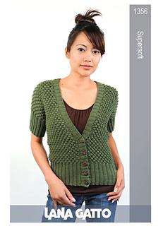RavelryMistress' Gatto Soft Cardigan Super Short Sleeve 1356 Lana qSUVzpM