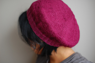 96ea15ff85 Ravelry  lightweight raspberry beret pattern by Laura Chau