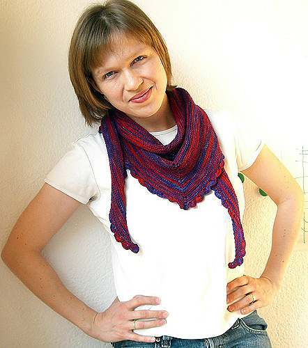 22.5 degrees shawl knitting pattern, Makes a great Mother's Day gift for Mom.
