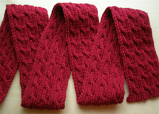 Ravelry: Palindrome: A Reversible Cable Scarf pattern by ...