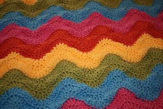 Ravelry Simple Ripple Baby Afghan Pattern By Lion Brand Yarn