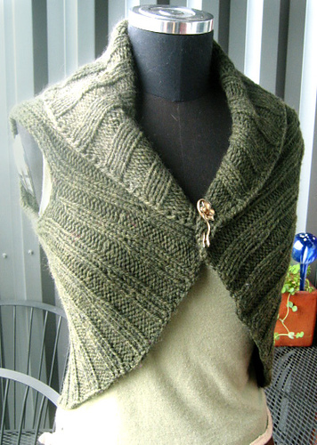 Ravelry Circle Vest Aran Weight Pattern By Jenn Wisbeck