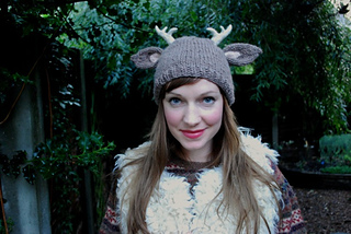 Ravelry  deer with little antlers hat pattern by tiny owl knits 4fd7b022ff6
