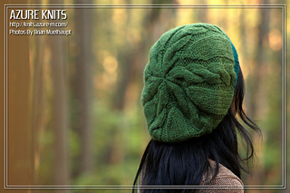 Ravelry  Quick Cable Slouch Hat pattern by Azure f46c0a3e115