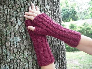 Ravelry F157 Baby Alpaca Grande Fingerless Gloves Pattern
