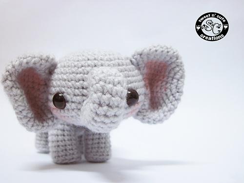 Amigurumi Sadie the Elephant pattern by Sweet N' Cute Creations