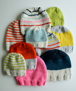 Super Soft Merino Hats for Everyone pattern by Purl Soho