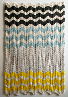 Chevron Baby Blanket in Merino pattern by Purl Soho
