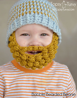 12064a04e Ravelry: bobble bearded beanie pattern by Ashlee Prisbrey