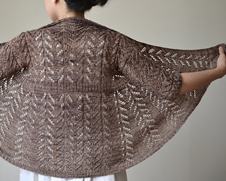 Hitofude Cardigan pattern by Hiroko Fukatsu