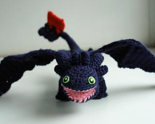 Crochet Amigurumi Dragon : Ravelry toothless dragon amigurumi drache ohnezahn pattern by