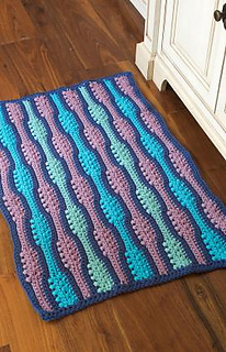 Ravelry Textured Waves Rug Pattern By Patsy Harbor