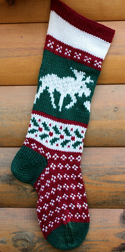 ravelry 0 christmas stocking moose pattern by cindy steinberg - Moose Christmas Stocking
