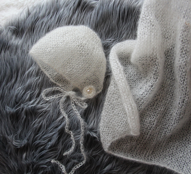 Ravelry Mohair Lace Bonnet Mini Blanket Pattern By Angie Hartley