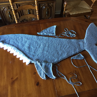 Knitting Pattern For A Shark Blanket : Ravelry: Shark Attack Lap Blanket pattern by Angie Hartley