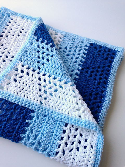 Triangles And Stripes Baby Blanket Free Pattern Pattern Forest