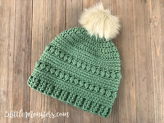 Ravelry  Bead Stitch Hat pattern by Erica Dietz d091a72efb7