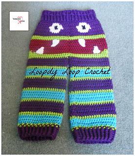 Ravelry Tylers Toddler Monster Pants Pattern By Loopdy Loop Crochet