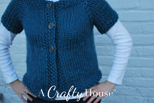 Ravelry: Short Sleeve Quick Cardigan pattern by A Crafty House